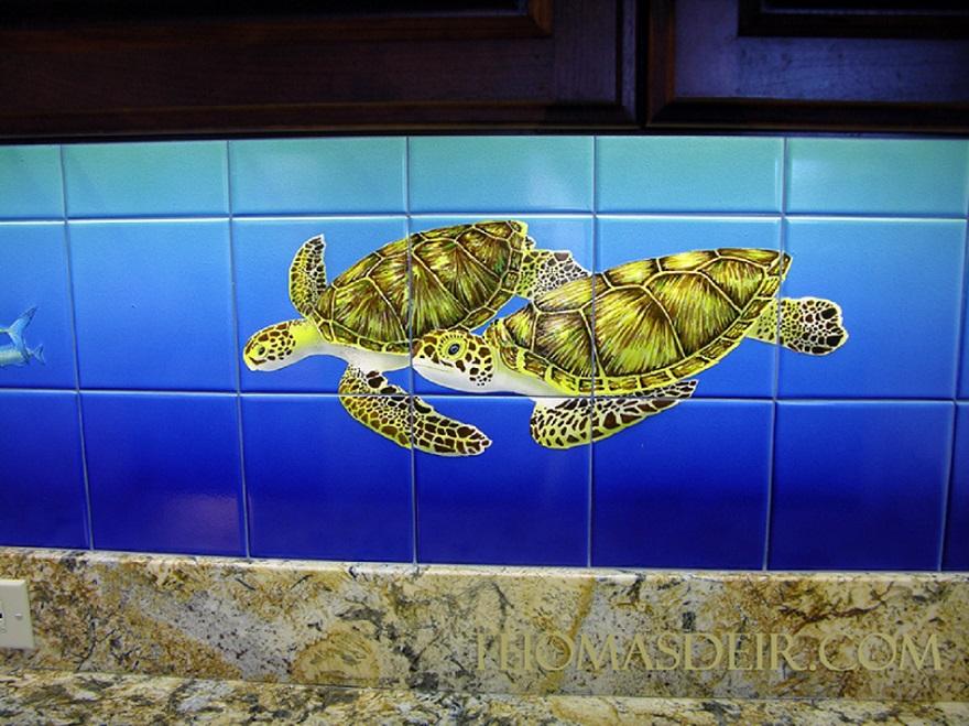 Hawaii Kitchen Backsplash Tropical Fish Tile Mural