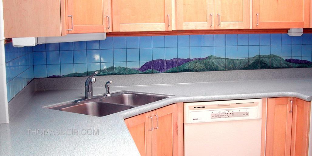 Hawaii Koolau Mountain Kitchen Tile Backsplash