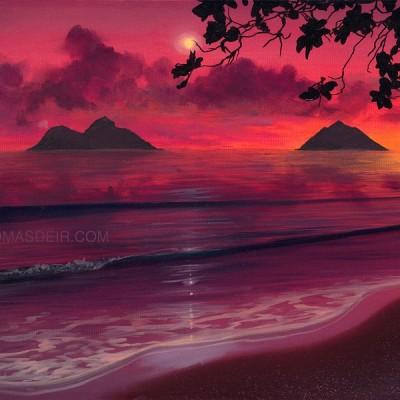 Hawaii Wall Art Lanikai Beach Sunrise