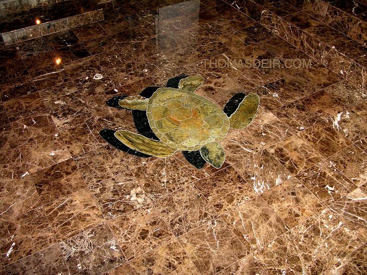 Marble Turtle Floor Mosaic