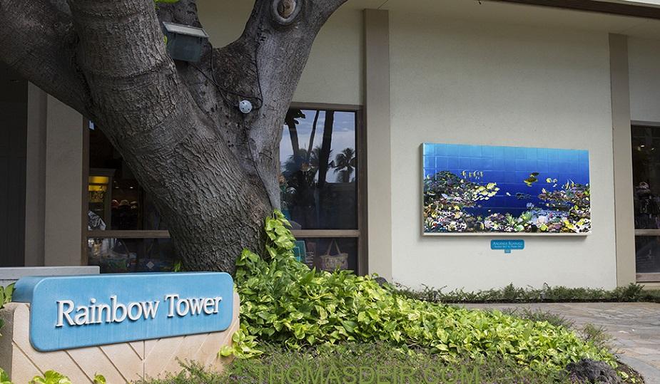 Tile Mural Hilton Hawiaiian Village Rainbow Tower