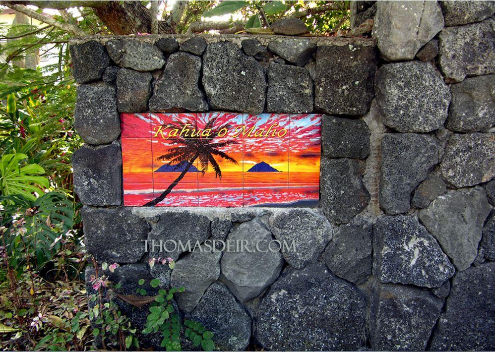 Resort Wall Tile Mural Inset