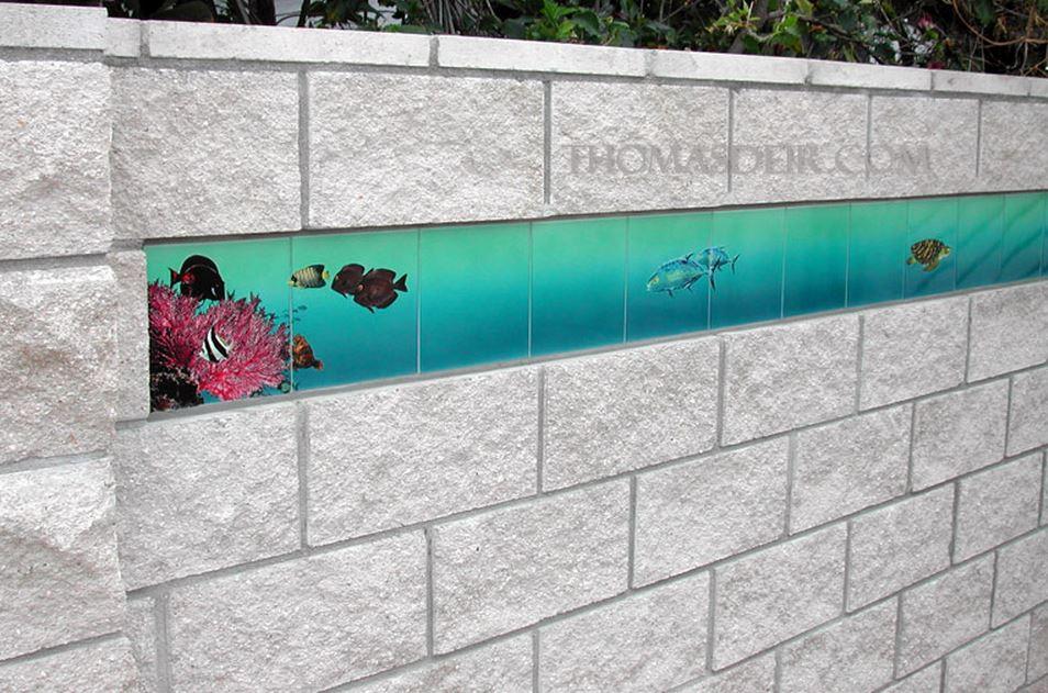 Resort Wall Trim Tropical Fish Tile Mural