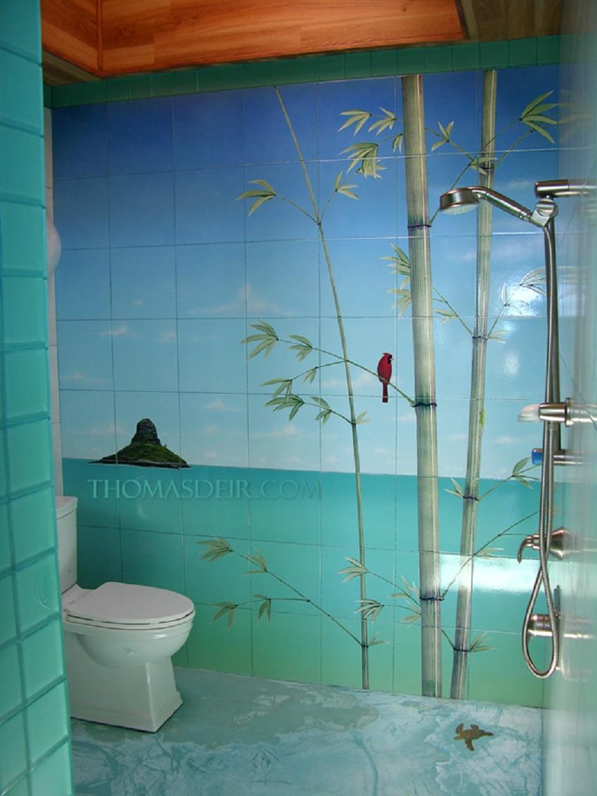 Tile Murals For Showers Thomas Deir Honolulu Hi Artist