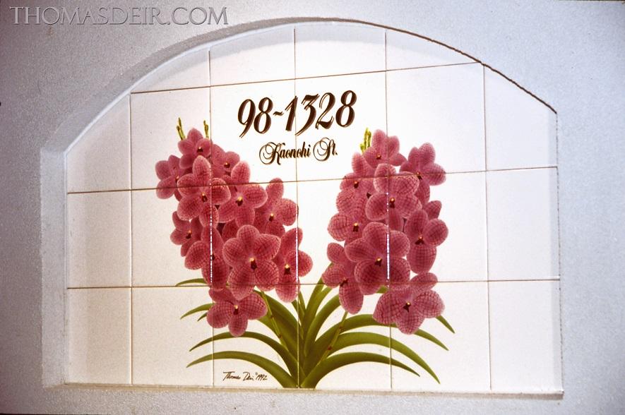 Vanda Orchid Address Entry Tile Art