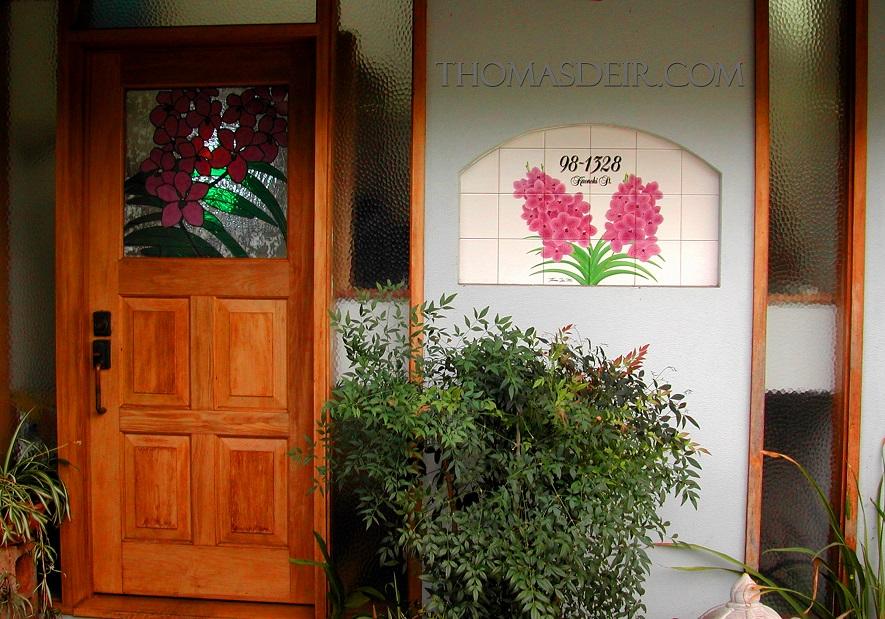Vanda Orchid Address Entry Tile Art-2