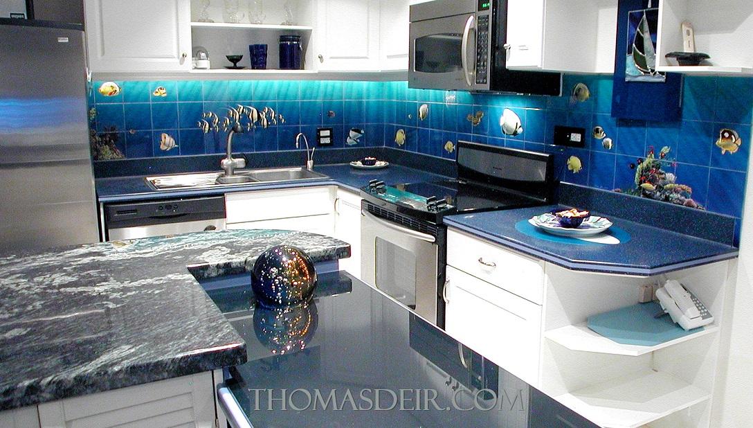 Aquarium Kitchen Tile Mural Backsplash 1c