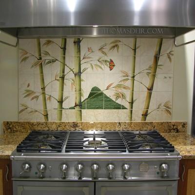 Kitchen Backsplash Asian Bamboo Hawaiian Island