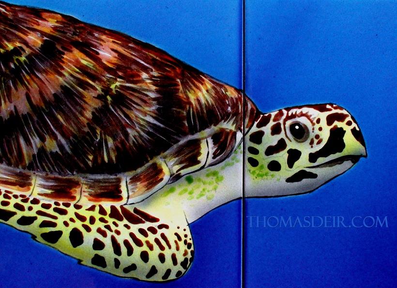 Turtle Tile Mural detail-0