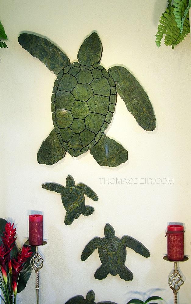 Mosaic Turtle Granite Walk wall art