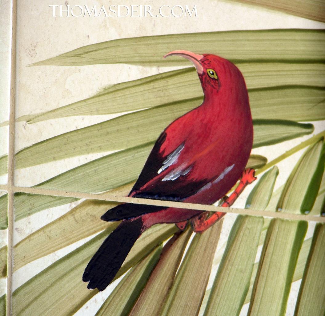 Hawaiian Bird tile mural detail