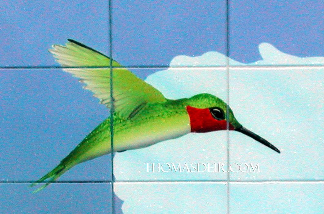 Hummingbird Tile Mural